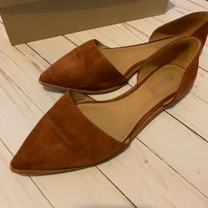 Madewell d'orsay suede flats vintage redwood 9